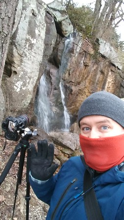 Photographing waterfalls around freezing, on Lookout Mountain, TN