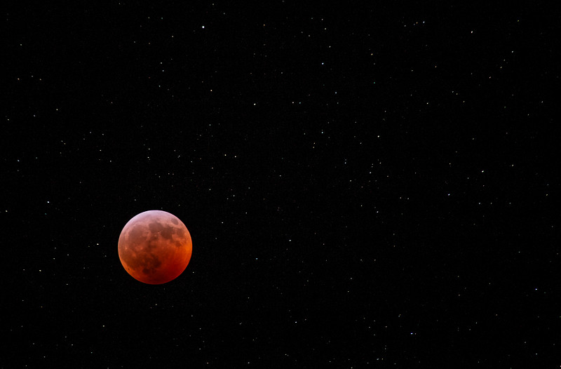 The total lunar eclipse from Pine Mountain State Resort Park, KY