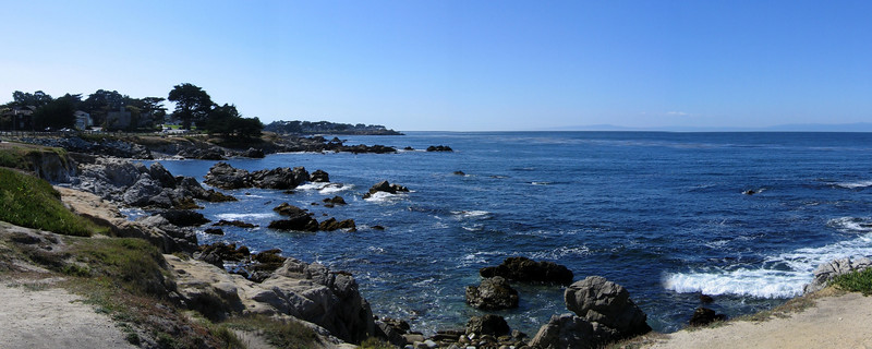 The Monterey beachfront