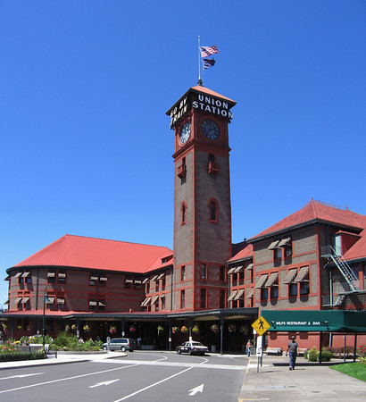 Union Station in Portland during a layover
