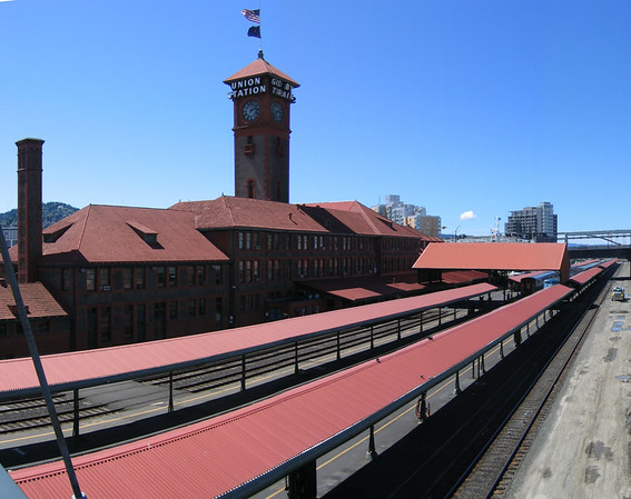 The train yard of Union Station