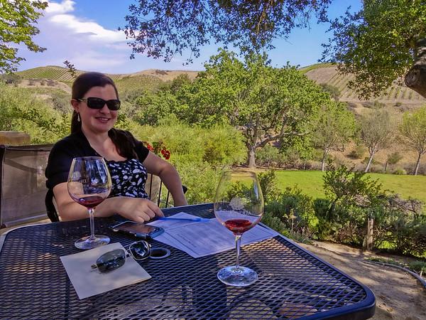 out at Demetria Winery near Santa Barbara