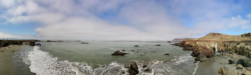 the coast along Hwy 1 just north of Morro Bay