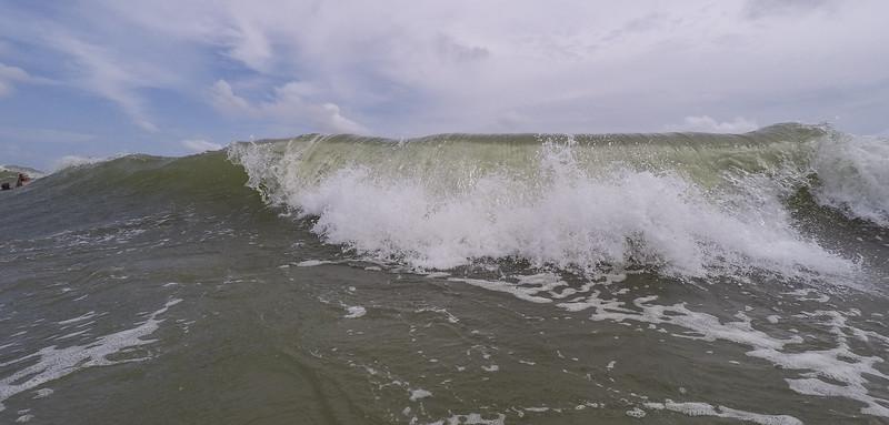 big waves...