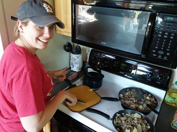 Brooke makes breakfast!
