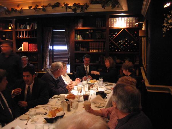 Art's family at dinner