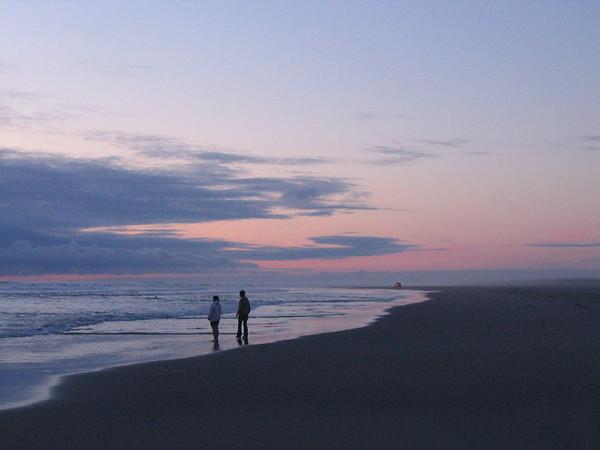 Mom and Artie take a nice stroll on the beach