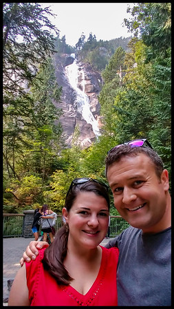 Stopping by Shannon Falls on our way up to Whistler