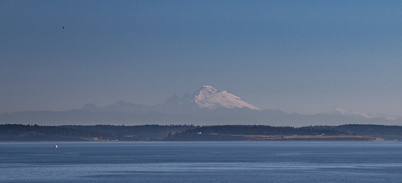 View of Mt. Baker from the ferry