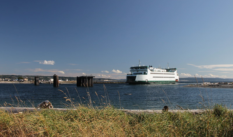 waiting for the Keystone-Port Townsend ferry to come in on our way west