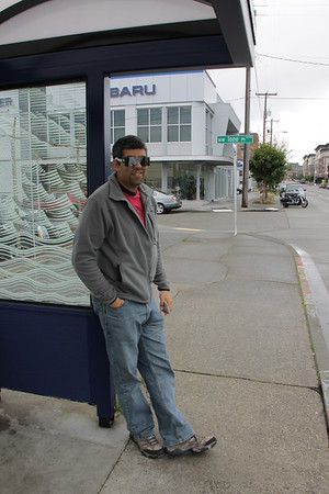I met up with Celso for my first night in Sea-town. Here he is rockin' his post-optometrist glasses.