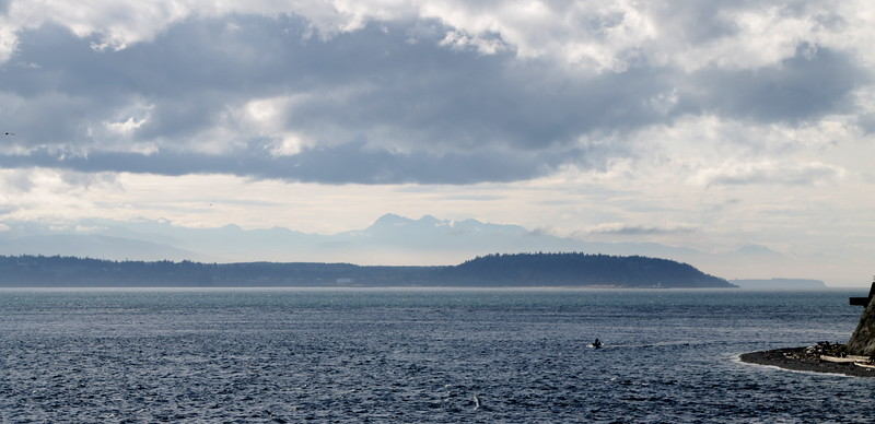 the view towards the Olympics across the Sound