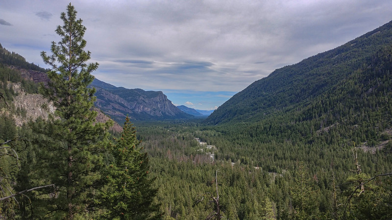 Looking down the Methow River Valley from the road to Slate Peak