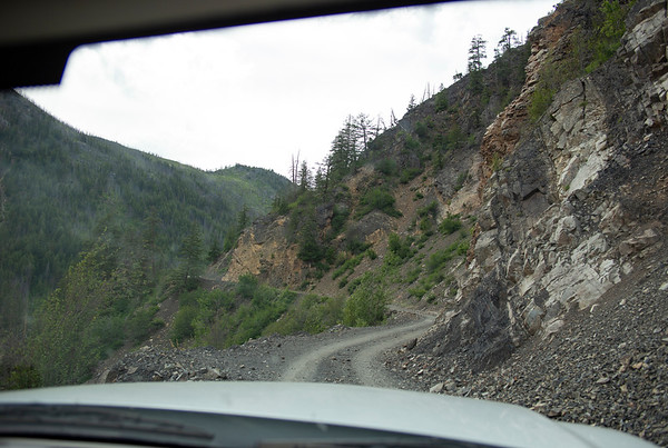 The road up to Slate Peak & our campground