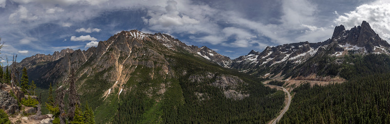 View across the east side of Washington Pass & Hwy 20