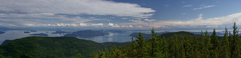 looking south towards the rest of the San Juans and Strait of Juan De Fuca