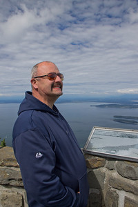 My dad enjoying the view - with his awesome 'stache
