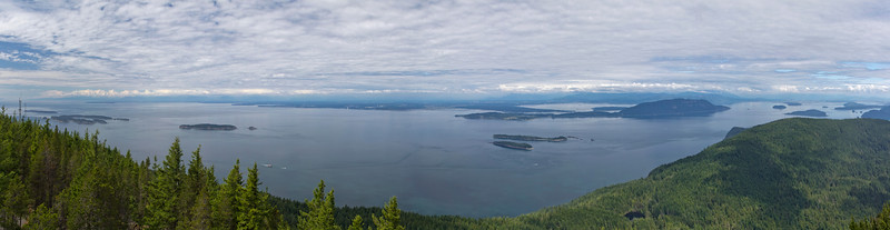 the view NE to Lummi Bay and Bellingham
