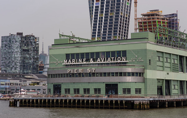 We get a close-up of the green building you can see from Tom & Eileen's place: Pier 57