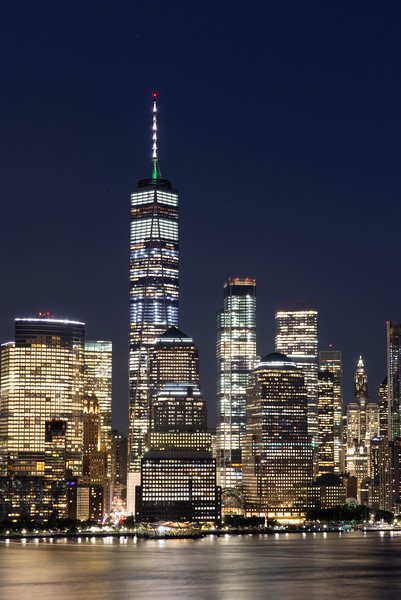 """The """"One World Trade Center"""" or """"Freedom Tower"""", in lower Manhattan."""