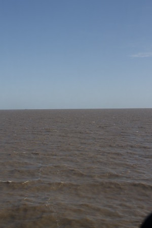 The Rio de la Plata... the mouth of the river we are crossing on our way to Uruguay (they're never going to fit that on the album cover!)
