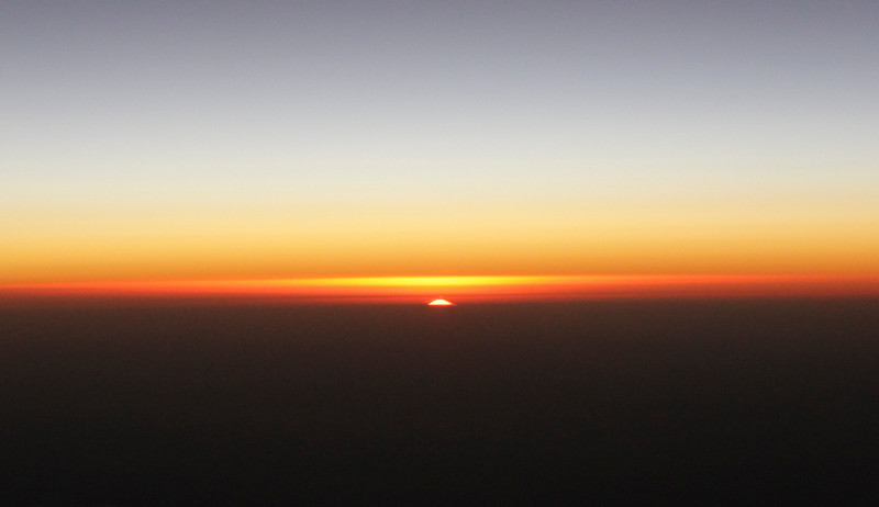 From the plane: my first Argentinain sunrise