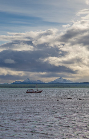 The view SW from Puerto Natales