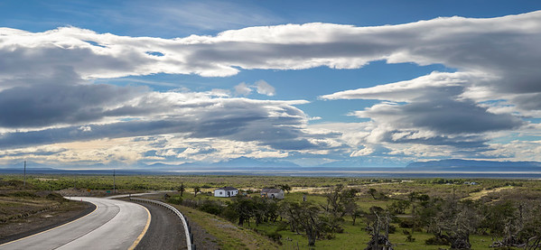 View out over the plain just south of Puerto Natales