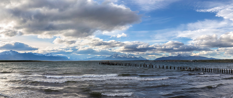 The view as NW as you leave Puerto Natales for Torres del Paine