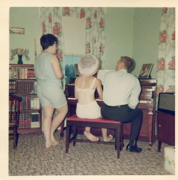 Marlene Carol and Bob at the piano