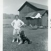 Carol VanDeventer with dog Tippy 1962