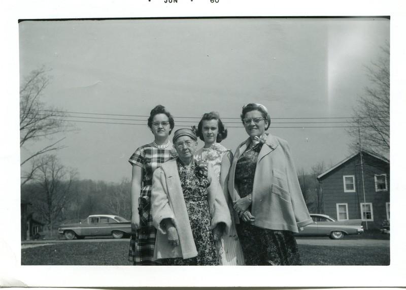 1960 Easter Sunday at Nanticoke Church Marlene Ruth Carol and Alice VanDeventer