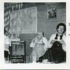 1961 Ruth VanDeventer and Joyce Tarbox taken downstairs in old church