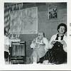 1961 Ruth VanDeventer and Joyce Tarbox taken downstairs in old church