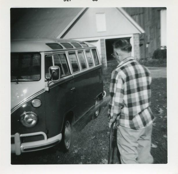 1966 Francis washing VW bus