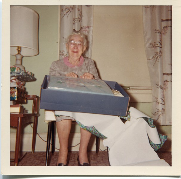 1967 Ruth VanDeventer with new electric blanket