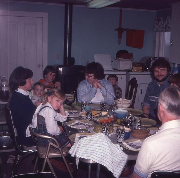 holday dinner VanDeventer 1980's