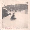 Bonnie sledding