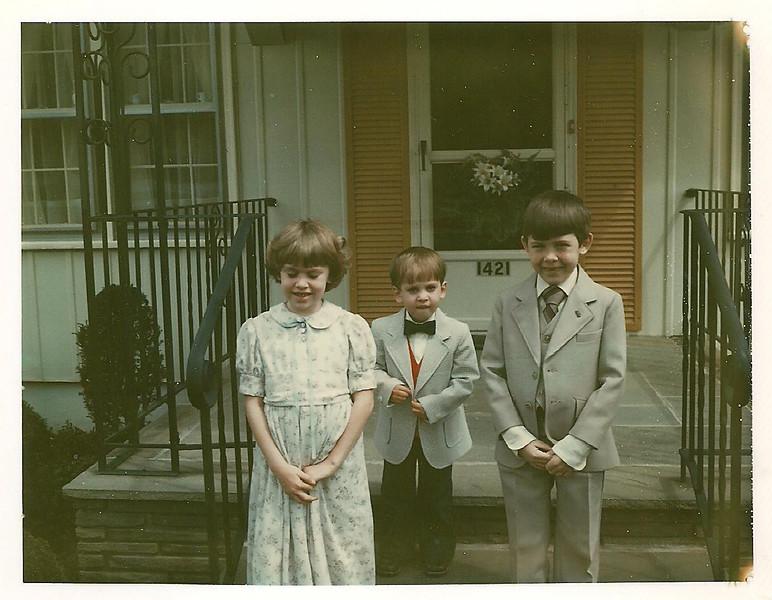 VanDeventer kids Easter April 19 1981