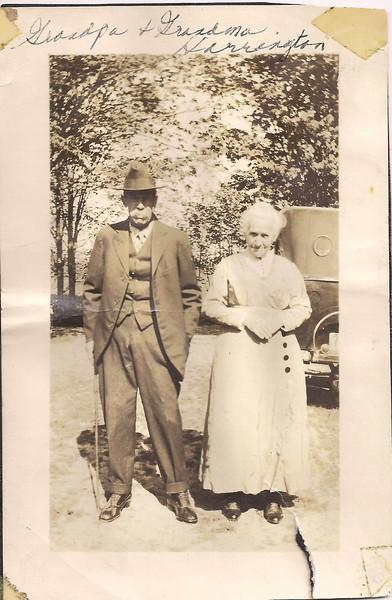 Grandpa and Grandma Harrington
