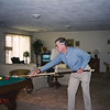 Bill playing pool