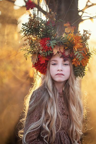 Ruby Autumn headpiece Kristen Rice