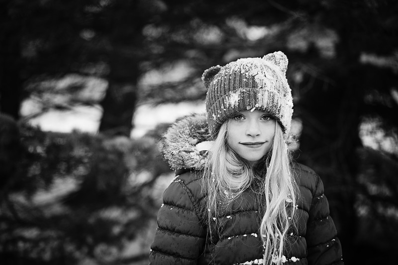 Ruby snow bw