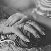 Grammie Ruby hands bw