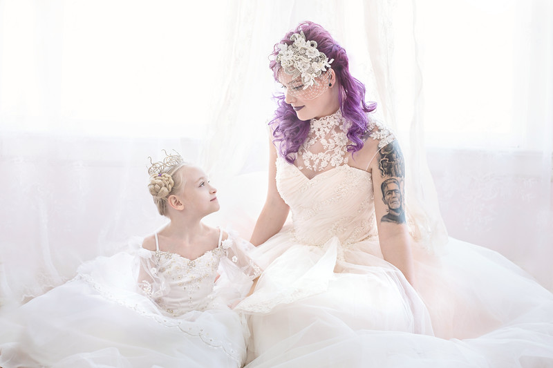 Leeandis bridal Kristen Rice Ruby Lauren Flower GIrl Bride--