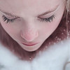 Snow on eyelashes Kristen Rice