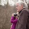 Poppy Ruby birdwatching