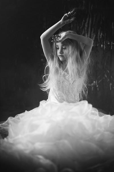 Ruby Kristen Rice white dress bw