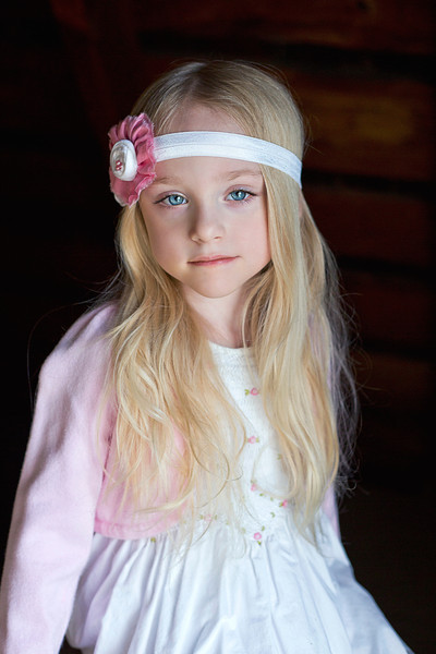 Pink and white headband