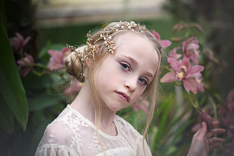 Ruby gold hairpiece Kristen Rice